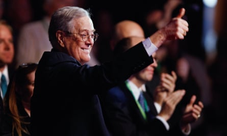 David Koch at an Americans for Prosperity summit in Washington DC in 2011.