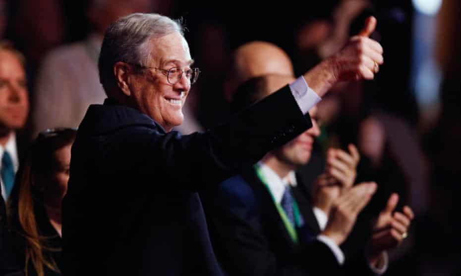 David Koch at an Americans for Prosperity summit in Washington DC in 2011.