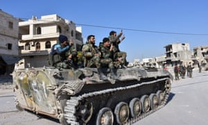 Syrian pro-government forces in Aleppo.