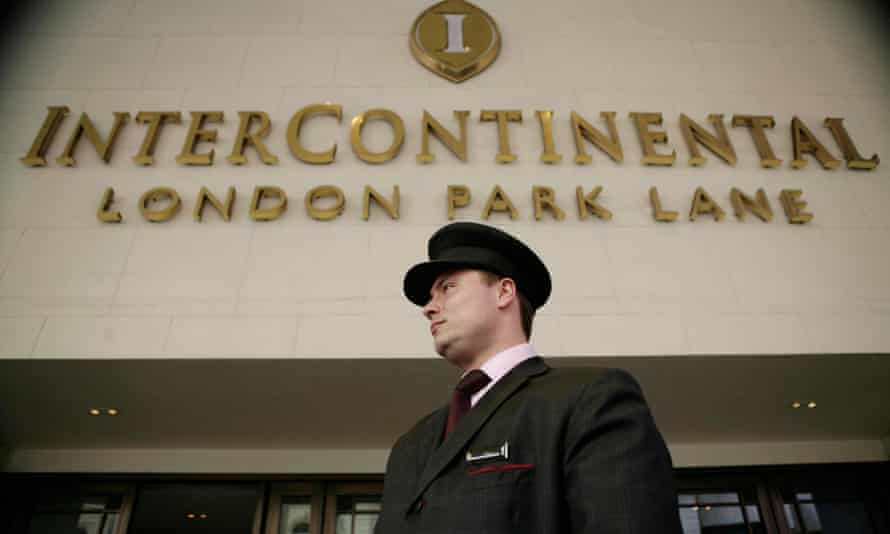 The InterContinental hotel on Park Lane, London