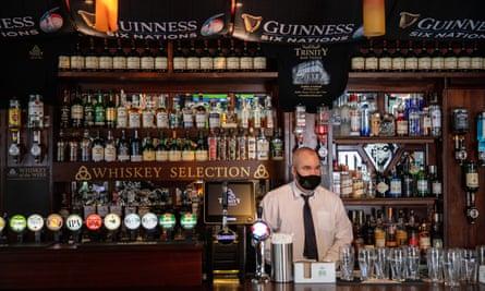 The barman in the Trinity Bar, Dame Street, Dublin