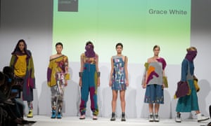 Kingston University graduate fashion show – models on catwalk