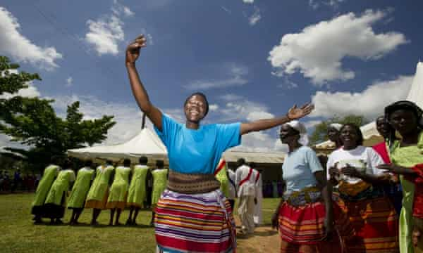 Women sing at a domestic violence 'safe haven' in Uganda. By funding such projects, DfID and its partners ensure women get life-changing support.