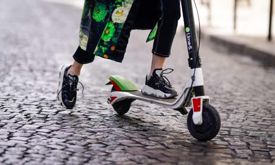 A Lime e-scooter in Paris.