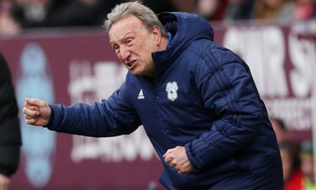 Neil Warnock says Tiger Woods' Masters win can be Cardiff's inspiration