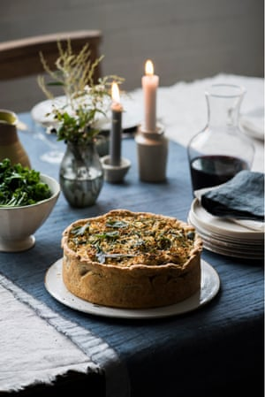 Anna's celeriac and sweet garlic pie is often first to disappear from the Christmas table.