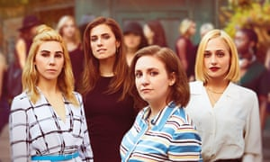 'Oh we're doing the movie' … Lena Dunham, second from right, on a forthcoming Girls film.