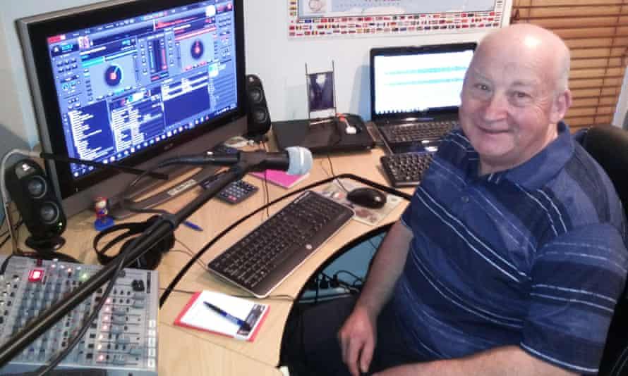 John Watson at the controls of Sleep Radio.
