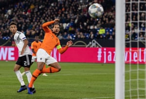 Virgil Van Dijk cushions a volley home for the late equaliser.