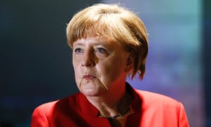A pig's head was left outside German chancellor Angela Merkel's constituency office.