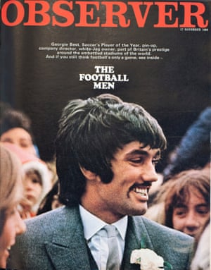 The cover of the Observer magazine on 17 November 1968, with a picture of George Best