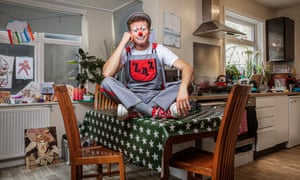 'Sometimes I'll put the makeup on in front of the kids': Matthew Indge, aka Zaz, takes steps to show his young audience there's a benign performer behind the mask.