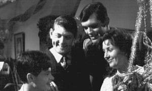 Paul Cronin, second from left, as Dave in a scene from The Sullivans