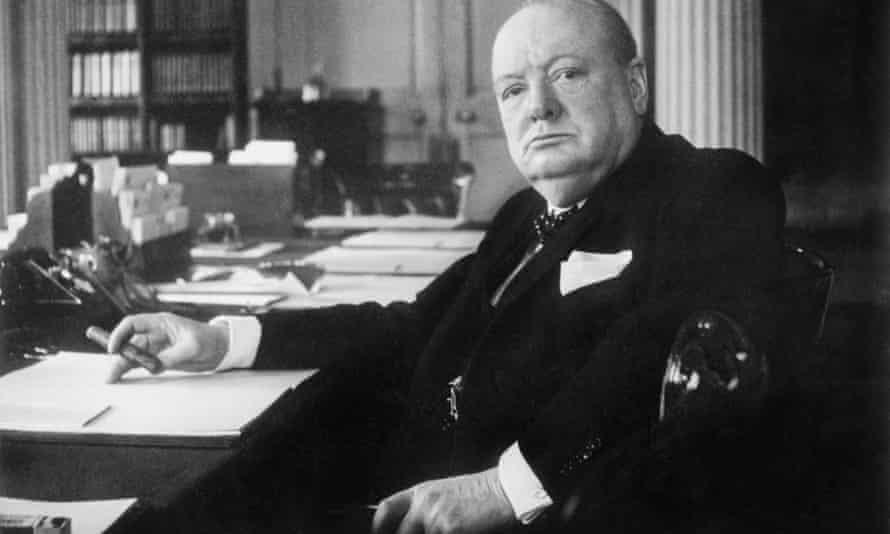 Winston Churchill pictured in Downing Street circa 1940