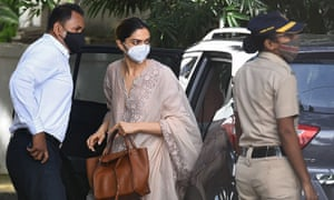 Bollywood actress Deepika Padukone arrives to attend questioning by Narcotics Control Bureau officials in Mumbai.