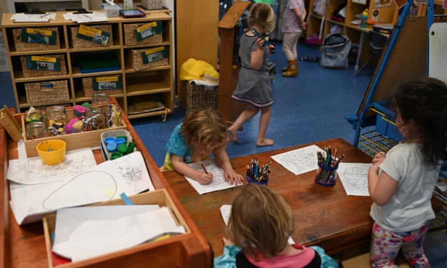 children at childcare