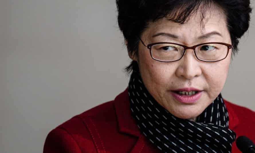 Hong Kong's chief executive-elect Carrie Lam has denied knowing about prosecutions of pro-democracy activists.