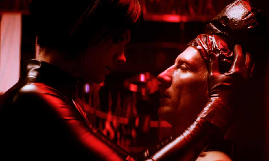 Krista Kosonen and Pekka Strang as dominatrix and dominated in Dogs Don't Wear Pants.
