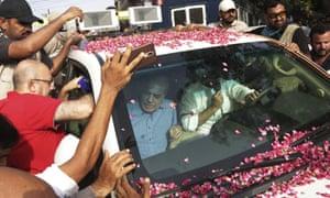 Shehbaz Sharif (seated on left), brother of former PM Nawaz Sharif