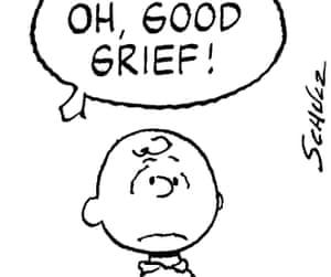 Charlie Brown in a Peanuts cartoon.