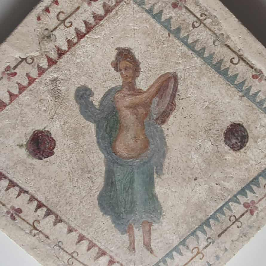 Parte di un dipinto, probabilmente proveniente da Villa Arianna a Pompei.