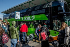 Lampugnano station bus departures with Flixbus where people some people anticipate leaving due to COVID19 Coronavirus