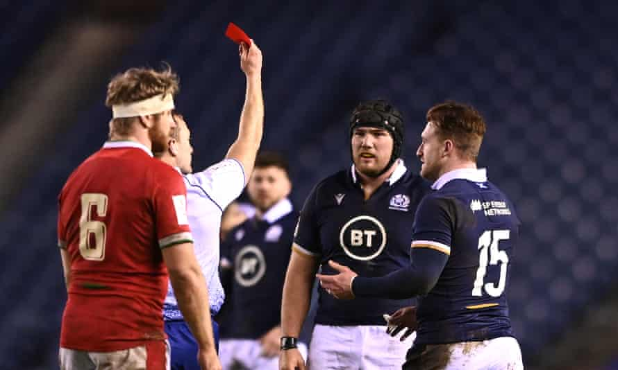 The change in attitude was evident in the reaction to Matthew Carley's decision to send Scotsman Zander Fagerson off against Wales.