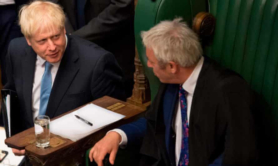 Boris Johnson and John Bercow