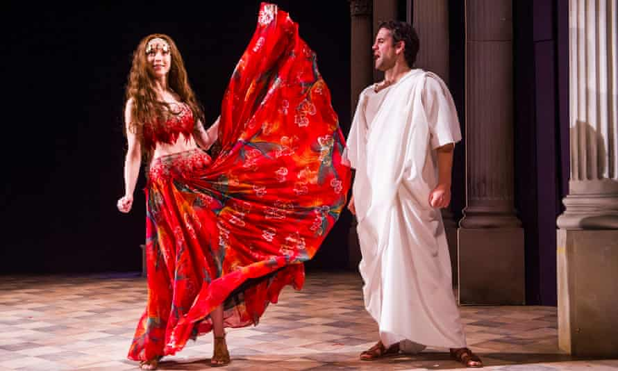 Alix Dunmore (Tirzah) and John Hopkins (Ben Hur) in Ben Hur by Patrick Barlow at the Tricycle theatre. Directed by Tim Carroll.
