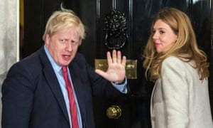 Boris Johnson with Carrie Symonds at 10 Downing Street