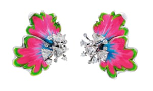 Earrings, price on application, by Dior Joaillerie.