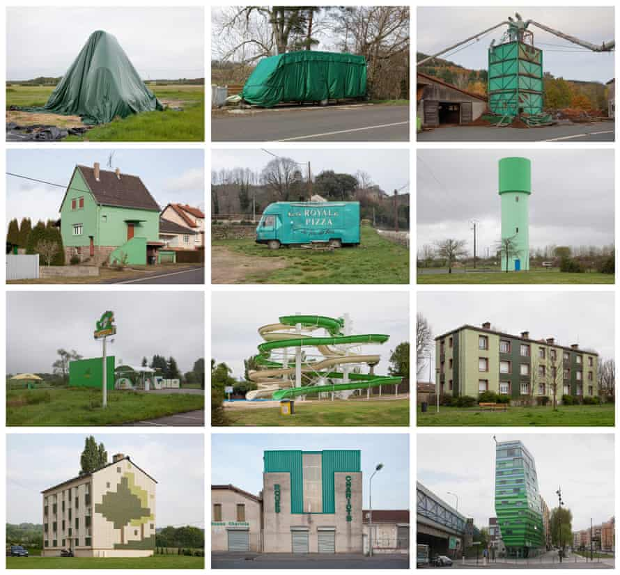 Green and pleasant land … the duo documented objects by size and colour.