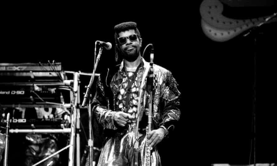 Dennis Thomas and Kool & the Gang in concert in Chicago in 1988.
