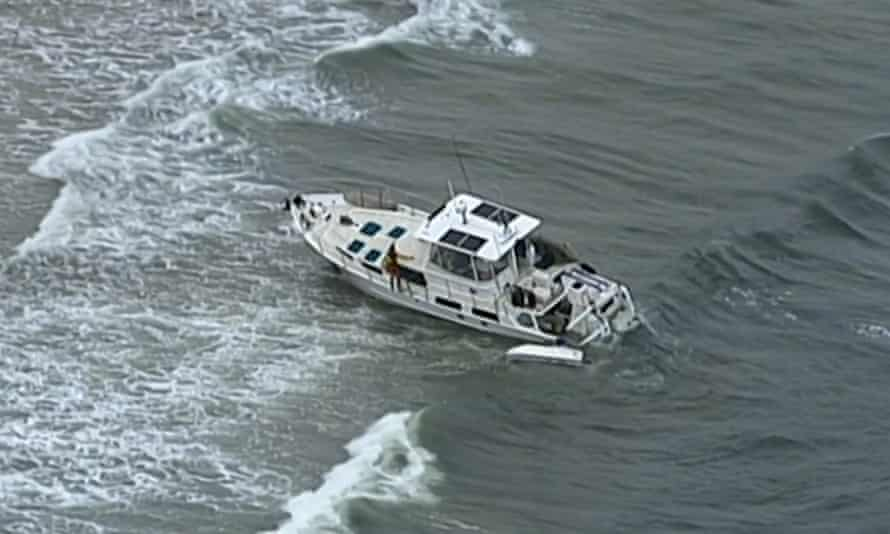 Lifeguards had earlier found the man's yacht washed up in shallow waters near Caloundra and Bribie Island.