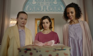 Elaine Fellows, Holly Earl and Sasha Frost in Erica.