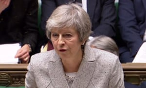 Theresa May gives her statement to the House of Commons