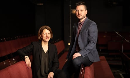 The Donmar's executive producer, Henny Finch, and artistic director, Michael Longhurst.