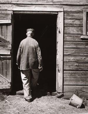 Uncle Harry Entering Barn, The Home Place, near Norfolk, Nebraska, 1947
