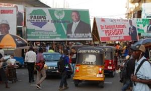 Campaign signs in Freetown