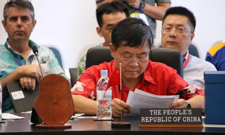 China's delegation to Nauru was led by Du Qiwen, its ambassador to Fiji