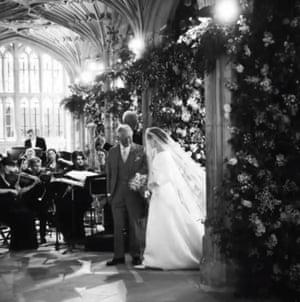 Meghan and Prince Charles at the wedding.