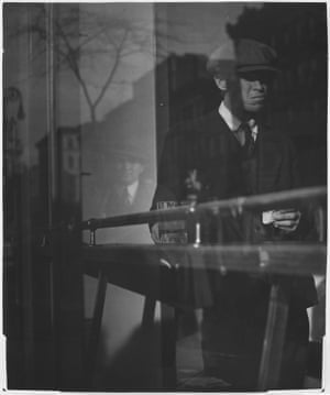 """Man in Restaurant, Delancey Street, 1939-1945When a 2011 exhibition at Bruce Silverstein Gallery paired Model's photographs with the leading figures of the European Expressionist movement, the New Yorker noted the eye-opening similarities. """"Like the Expressionists, [Model] relished macabre exaggeration, but she was not without sympathy for her subjects. She could be as brutal as Dix, but she could also be comic, affectionate, and enthralled."""""""