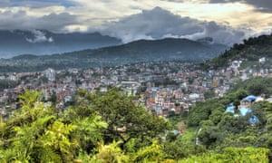 View of Kathmandu from the Monkey Temple, Nepal.