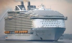 The Harmony of the Seas cruise ship.