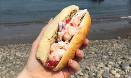 A seafood sandwich from Lobster and Môr.