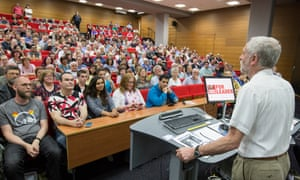 Corbyn's campaign has been buoyed by support from students.