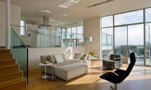 split-level open plan home