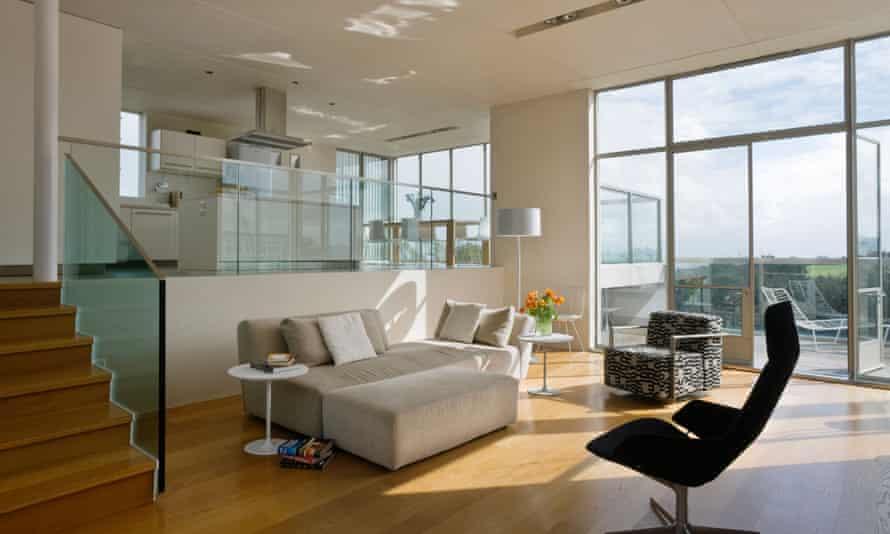 A split-level home