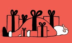Christmas cartoon card by Jean Jullien