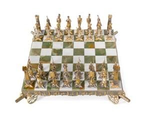 A Battle of Waterloo chess set